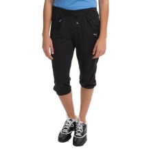 Puma Loose-Cuffed Capris (For Women) in Black - Closeouts