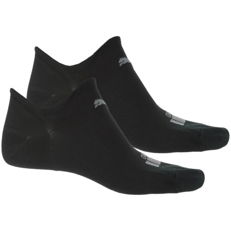 Puma Microfiber Non-Terry Super Sport Socks - 2-Pack, Below the Ankle (For Men) in Black Combo