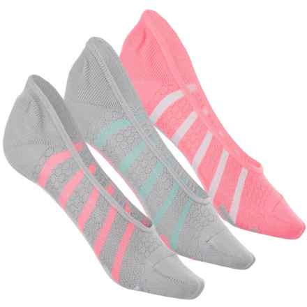 Puma Microfiber Sports Liner Socks - 3-Pack, Below the Ankle (For Women) in Light Pastel Grey - Closeouts