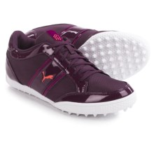 Puma Monolite Cat Golf Shoes (For Women) in Italian Plum/Purple Wine/Cayenne - Closeouts