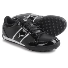 Puma Monolite Cat Golf Shoes -Vegan Leather (For Women) in Black/White/Puma Silver - Closeouts