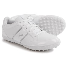 Puma Monolite Cat Golf Shoes -Vegan Leather (For Women) in White/Puma Silver - Closeouts