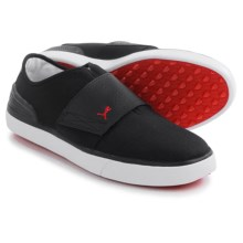 Puma Monolite El Ray Golf Shoes - Slip-Ons (For Men) in Black/Tango Red - Closeouts