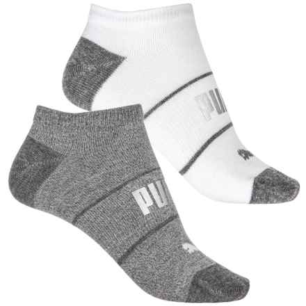 Puma Non-Terry Low-Cut Socks - 2-Pack, Below the Ankle (For Women) in Medium Combo - Closeouts
