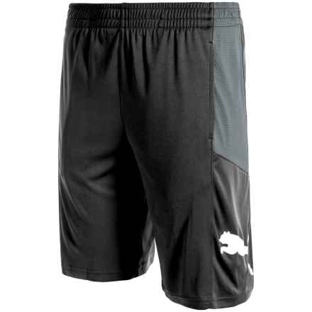 Puma Pieced Shorts (For Big Boys) in Black - Closeouts