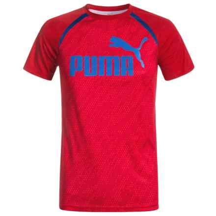 Puma Pieced T-Shirt - Short Sleeve (For Big Boys) in Star Red - Closeouts