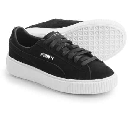 Puma Platform Sneakers - Suede (For Women) in Black - Closeouts