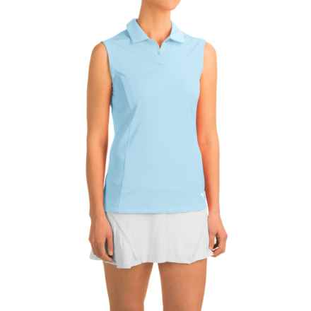 Puma Pounce Crest Golf Polo Shirt - Sleeveless (For Women) in Cool Blue - Closeouts
