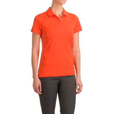 Puma Pounce Crest Golf Polo - Short Sleeve (For Women) in Cherry Tomato - Closeouts