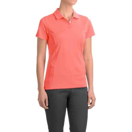 Puma Pounce Crest Golf Polo - Short Sleeve (For Women) in Fluro Peach - Closeouts