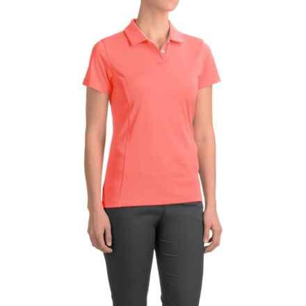 Puma Pounce Crest Golf Polo - Short Sleeve (For Women) in Fluro Peach - Closeouts