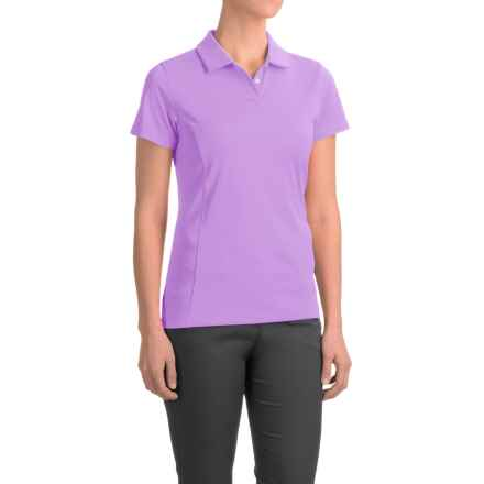 Puma Pounce Crest Golf Polo - Short Sleeve (For Women) in Orchid Bloom - Closeouts