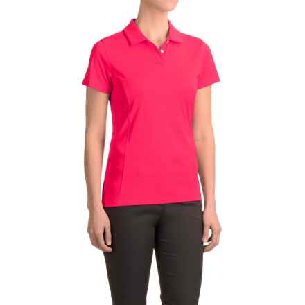 Puma Pounce Crest Golf Polo - Short Sleeve (For Women) in Rose Red - Closeouts