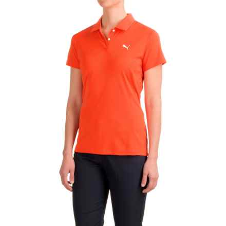 Puma Pounce Polo Shirt - Short Sleeve (For Women) in Cherry Tomato - Closeouts