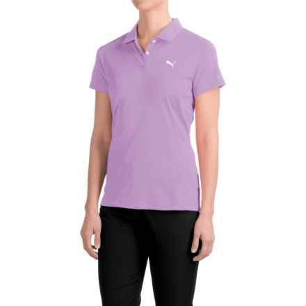 Puma Pounce Polo Shirt - Short Sleeve (For Women) in Orchid Bloom - Closeouts