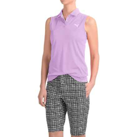 Puma Pounce Polo Shirt - Sleeveless (For Women) in Orchid Bloom - Closeouts