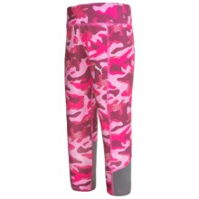 Puma Printed 3/4 Capri Tights (For Big Kids) in Pink Glo Camo Print - Closeouts