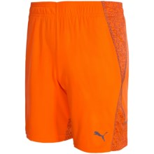 Puma Printed Block Two-Tone Shorts (For Big Kids) in Fire Orange - Closeouts