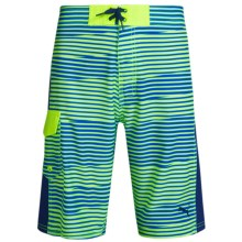 Puma Printed Boardshorts (For Big Boys) in Acid Yellow - Closeouts