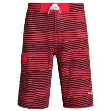 Puma Printed Boardshorts (For Big Boys) in Star Red - Closeouts