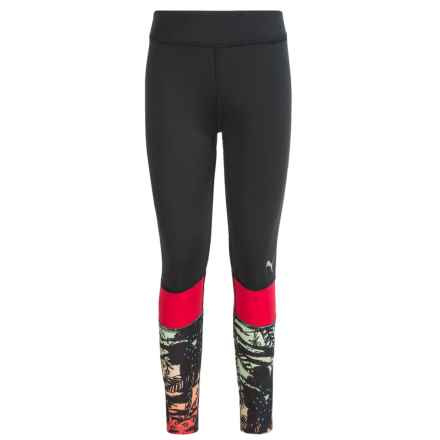 Puma Printed Leggings (For Big Girls) in Black Multi - Closeouts