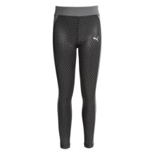 Puma Printed Leggings (For Big Girls) in Black - Closeouts