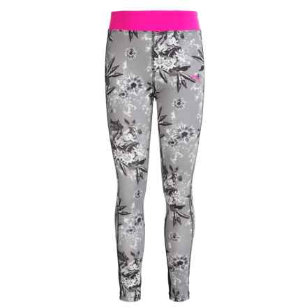 Puma Printed Leggings (For Little Girls) in Black/White/Pink - Closeouts