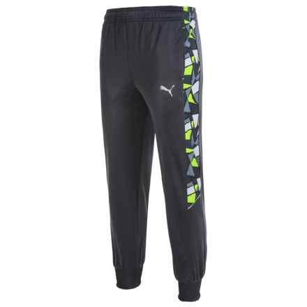 Puma Printed Panel Track Pants (For Big Boys) in Coal - Closeouts