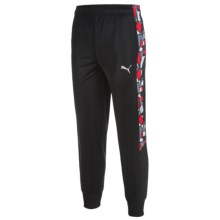 Puma Printed Panel Track Pants (For Big Boys) in Puma Black - Closeouts