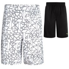 Puma Prism Shorts - Reversible (For Big Boys) in Puma Black - Closeouts