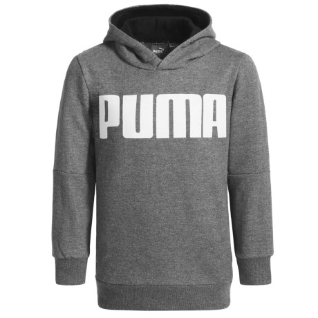 Puma Pullover Hoodie (For Little Boys) in Charcoal Heather