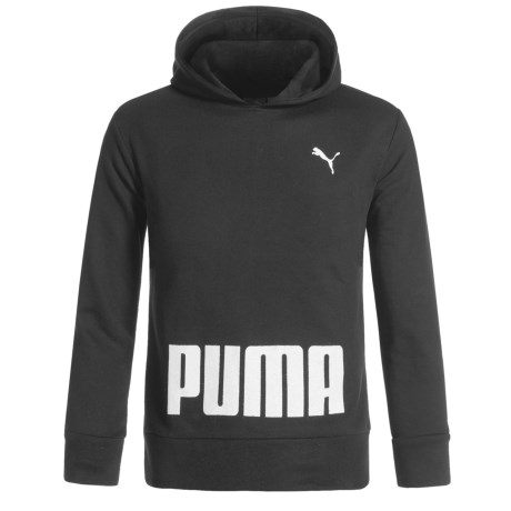 Puma Pullover Hoodie (For Little Girls) in Puma Black