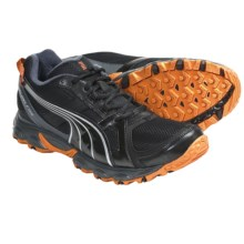 Puma Pumafox Trail Running Shoes (For Men) in Black/Silver/Flame Orange - Closeouts