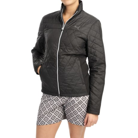 Puma Quilted Golf Jacket Insulated (For Women)