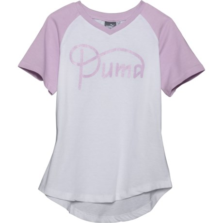 97f0a2e5af5 Puma Raglan T-Shirt - V-Neck, Short Sleeve (For Big Girls