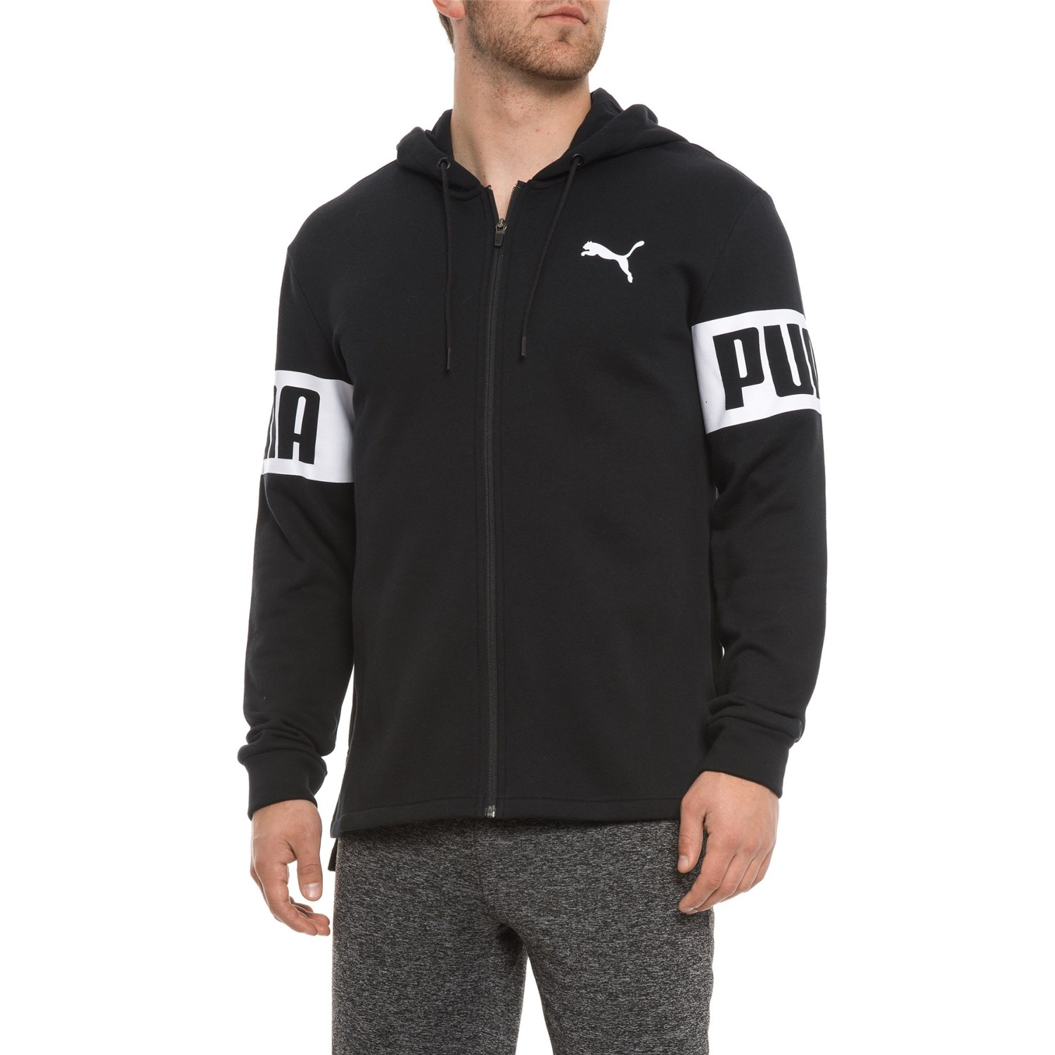 Puma Rebel Fleece Hoodie Full Zip (For Men)