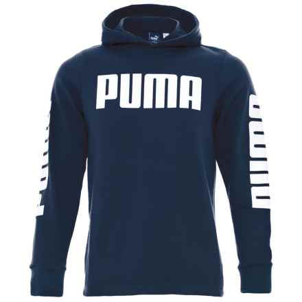 Puma Rebel Hoodie (For Big Boys) in Sargasso Sea - Closeouts