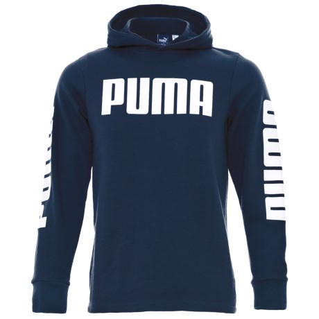 Puma Rebel Hoodie (For Big Boys) in Sargasso Sea