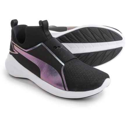 Puma Rebel Mid Swan Sneakers (For Women) in Black - Closeouts