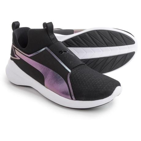 Puma Rebel Mid Swan Sneakers (For Women) in Black