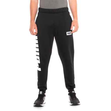 Puma Rebel Sweatpants (For Men) in Cotton Black - Closeouts