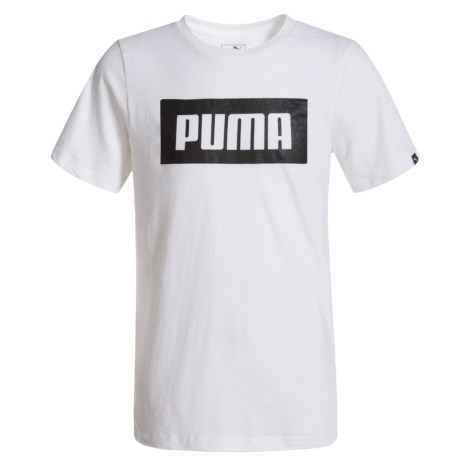 Puma Rebel T-Shirt - Short Sleeve (For Big Boys) in Puma White
