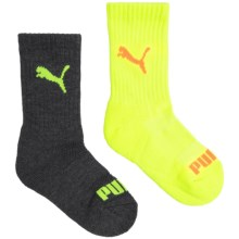 Puma Ribbed Terry Socks - Crew, 6-Pack (For Boys) in Bright Combo - Closeouts