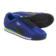 Puma Roma Mesh Sneakers (For Men) in Limoges/Black/Jasmine Green - Closeouts