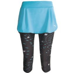 Puma Run 3/4 Skirt (For Women) in Blue Atoll