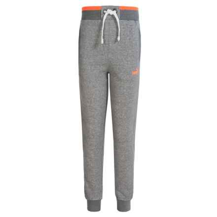 Puma Salt & Pepper Joggers (For Big Boys) in Asphalt Heather - Closeouts