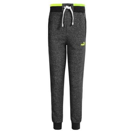 Puma Salt & Pepper Joggers (For Big Boys) in Black Heather - Closeouts