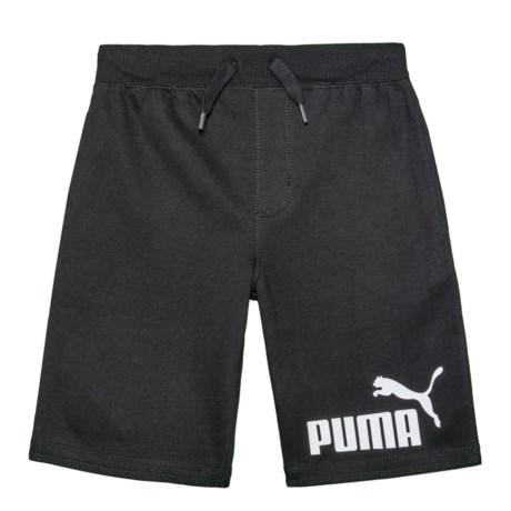 Puma Screenprint Shorts (For Big Boys) in Puma Black