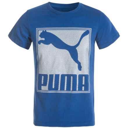 Puma Screenprint T-Shirt - Short Sleeve (For Big Boys) in True Blue - Closeouts