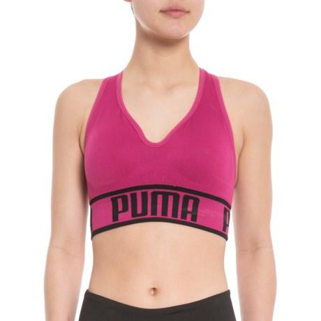 8bebd002c4 Puma Seamless Apex Sports Bra - Low Impact (For Women) in Purple Pink